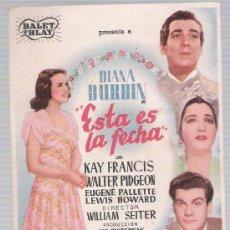 Cine: ESTA ES LA FECHA. SENCILLO DE BALET Y BLAY.. Lote 19808266