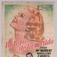Cine: NO TE FÍES DE TU MARIDO. SENCILLO DE FILMAYER.. Lote 14732511