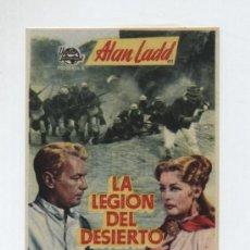 Cine: LA LEGIÓN DEL DESIERTO. SENCILLO DE UNIVERSAL INTERNATIONAL. GRAN CINEMA COCA 1954.. Lote 19808282