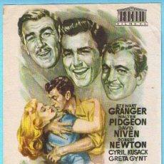Cine: TRES SOLDADOS. STEWART GRANGER, WALTER PIDGEON, DAVID NIVEN. DIR. TAY GARNETT.. Lote 14797542