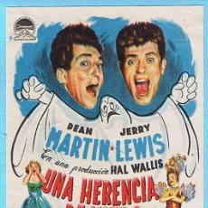 Cine: UNA HERENCIA DE MIEDO. DEAN MARTIN, JERRY LEWIS, CARMEN MIRANDA. DIR GEORGE MARSHALL.. Lote 14797663