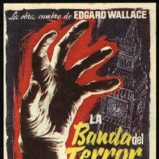 Cine: P-0420- LA BANDA DEL TERROR (DIE BANDE DES SCHRECKENS) (JOACHIM FUCHSBERGER - KARIN DOR). Lote 178788060