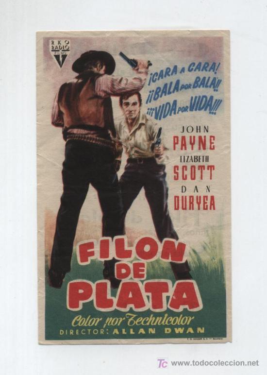 FILÓN DE PLATA. SENCILLO DE RKO RADIO. CINE DELICIAS. (Cine - Folletos de Mano - Westerns)