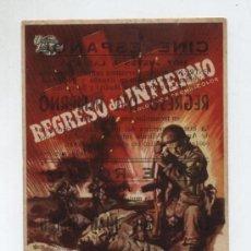 Cine: REGRESO DEL INFIERNO. SENCILLO DE UNIVERSAL INTERNATIONAL. CINE ESPAÑOL - DOS HERMANAS.. Lote 14806429