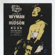 Folhetos de mão de filmes antigos de cinema: OBSESIÓN. SENCILLO GRANDE DE UNIVERSAL INTERNATIONAL. GRAN CINEMA COCA 1954.. Lote 19817213