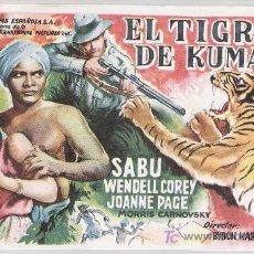Cine: EL TIGRE DE KUMAON. SENCILLO DE UNIVERSAL INTERNATIONAL.. Lote 14821468