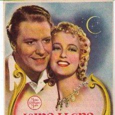 Cine: LUNA LLENA. SENCILLO DE MGM. CINE PERELLÓ. 1946. Lote 19817216