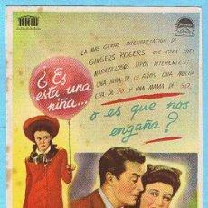 Cine: EL MAYOR Y LA MENOR. GIRGER ROGERS, RAY MILLAND. DIR BILLY WILDER.. Lote 14831229
