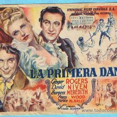 Cine: LA PRIMERA DAMA. GIRGER ROGERS, DAVID NIVEN, BURGESS MAREDITH. DIR. FRANK BORGAZE.. Lote 14849416
