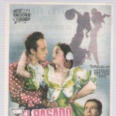 Cine: EL PASADO AMENAZA. SENCILLO DE EMISORA FILMS. CINEMA ALHAMBRA.. Lote 14866407