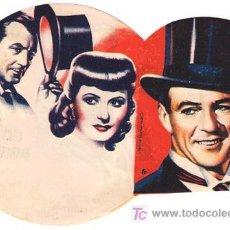 Flyers Publicitaires de films Anciens: BOLA DE FUEGO PROGRAMA DOBLE TROQUELADO ASTORIA GARY COOPER BARBARA STANWYCK. Lote 14876258