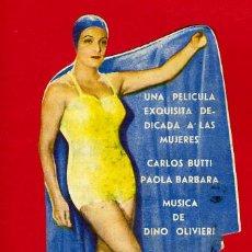 Cine: SOLO PARA HOMBRES, TROQUELADO, S1600. Lote 18351319