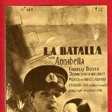 Cine: LA BATALLA , 1935 , DOBLE , S1630. Lote 15063761