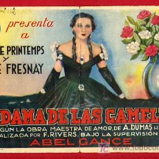 Cine: LA DAMA DE LAS CAMELIAS , MUY RARO , DOBLE , S1633. Lote 19384862