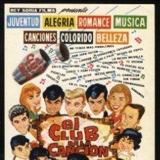 Folhetos de mão de filmes antigos de cinema: P-2797- EL CLUB DE LA CANCION (JOHNY TEDESCO - PEDRO QUARTUCCI - JOLLY LAND - ALFREDO BARBIERI). Lote 24344918