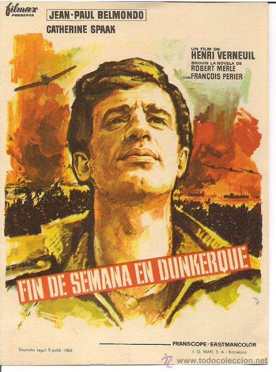 FIN DE SEMANA EN DUNKERQUE. BELMONDO (Cine - Folletos de Mano - Bélicas)