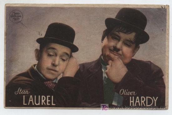 SATAN LAUREL Y OLIVER HARDY.PROGRAMA DE MGM.AL DORSO LAUREL Y HARDY EN EL OESTE. TEATRO DUQUE DE RI- (Cine - Folletos de Mano - Terror)