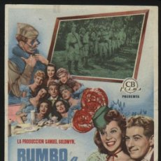 Cine: P-6123- RUMBO A ORIENTE (UP IN ARMS) (MALAGA CINEMA) DANNY KAYE - DINAH SHORE - DANA ANDREWS. Lote 24574685