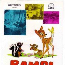Cine: WALT DISNEY - BAMBI - DIPENFA - PROGRAMA GRANDE. Lote 15226539