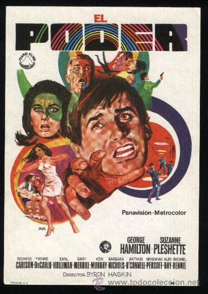P-0880- EL PODER (THE POWER) (GEORGE HAMILTON - SUZANNE PLESHETTE - YVONNE DE CARLO) (Cine - Folletos de Mano - Ciencia Ficción)