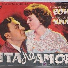 Cine: CITA DE AMOR. DOBLE DE UNIVERSAL FILMS ESPAÑOLA. CINE PICAROL 1944.. Lote 20462277