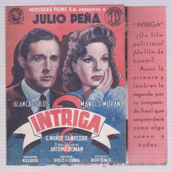 INTRIGA. DOBLE DE HÉRCULES FILMS. (Cine - Folletos de Mano - Drama)