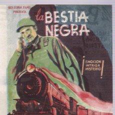 Cine: LA BESTIA NEGRA. DOBLE DE REY SORIA FILMS.. Lote 20462279