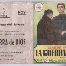 Cine: LA GUERRA DE DIOS.DOBLE DE CIFESA. CINE IDEAL.. Lote 15466525