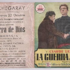 Cine: LA GUERRA DE DIOS.DOBLE DE CIFESA. CINE ECHEGARAY - MÁLAGA.. Lote 15466572