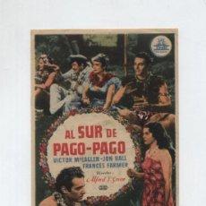 Cine: AL SUR DE PAGO-PAGO. Lote 25492728