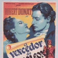 Cine: EL VENCEDOR DE NAPOLEÓN. SOLIGÓ.SENCILLO DE 20TH CENTURY FOX. CINE COLSEO ESPAÑA - SEVILLA.. Lote 15612676