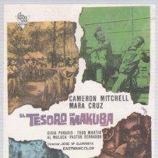 Cine: EL TESORO DE MAKUBA. SENCILLO DE CIRE FILMS.. Lote 178603205