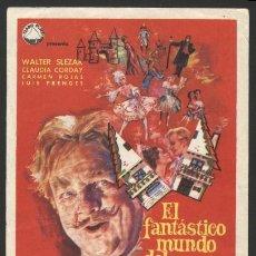 Cine: P-1350- EL FANTASTICO MUNDO DEL DR. COPPELIUS (WALTER SLEZAK - CLAUDIA CORDAY - CAJ SELLING). Lote 25294758
