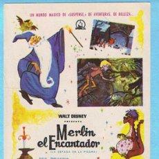 Cine: MERLÍN EL ENCANTADOR. WALT DISNEY.. Lote 15710863