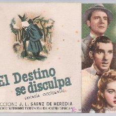 Cine: EL DESTINO SE DISCULPA. DOBLE DE BALLESTEROS. CINE ESPAÑOL 1945.. Lote 15721419