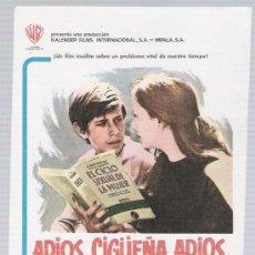 Cinéma: ADIOS,CÍGÜEÑA, ADIOS. SENCILLO DE WB. ¡IMPECABLE. Lote 15735002