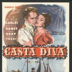 Cine: P-4383- CASTA DIVA (TEATRO REGIO - YECLA) ANTONELLA LUALDI - NADIA GRAY - MAURICE RONET. Lote 25433297