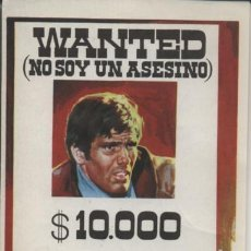 Flyers Publicitaires de films Anciens: WANTED (NO SOY UN ASESINO). Lote 15839394