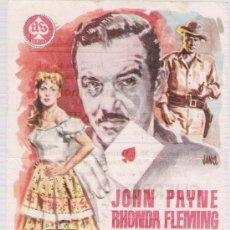 Cine: EL JUGADOR. SENCILLO DE AS FILMS. SALA EDISON - FIGUERAS.. Lote 15901084
