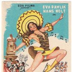 Cine: FESTIVAL SOBRE EL HIELO PROGRAMA SENCILLO EOS EVA PAWLIK HANS HOLT PATINAJE NO ESTRENADA ?. Lote 19351944