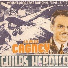 Cine: AGUILAS HEROICAS PROGRAMA DOBLE WARNER JAMES CAGNEY PAT O'BRIEN HOWARD HAWKS. Lote 15958903