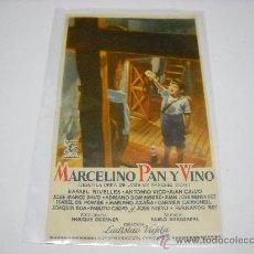 Cine: MARCELINO PAN Y VINO. PABLITO CALVO. PROGRAMA SENCILLO. PUBLICIDAD CINES BILBAO Y VELAZQUEZ.. Lote 25992384