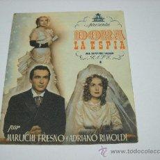 Cine: DORA LA ESPIA. MARUCHI FRESNO. ADRIANO RIMOLDI. PROGRAMA DOBLE. S/P.. Lote 25992386