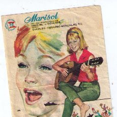 Flyers Publicitaires de films Anciens: MARISOL RUMBO A RÍO. SENCILLO DE SUEVIA FILMS. CINE BOSTON - BENICALAP 1964. Lote 16105832