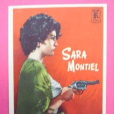Cine: FOLLETO SARA MONTIEL , YO NO CREO EN LOS HOMBRES 1960 CON PUBLICIDAD CINE PARIS. Lote 16113437