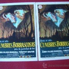Cine - CUMBRES BORRASCOSAS, TIMOTHY DALTON, original CEA lote 2 programas sin publicidad - 18099275