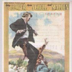 Cine: EL ARBOL DEL AHORCADO. SENCILLO DE WB. CINE CAPITOL - TARRAGONA.. Lote 16141311