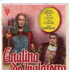 Cine: CATALINA DE INGLATERRA. SENCILLO DE RKO RADIO. CINEMA ALCÁZAR -UBRIQUE.. Lote 16158651