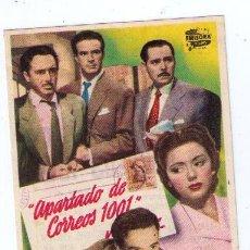 Cine: APARTADO DE CORREOS 1001. SENCILLO DE EMISORA FILMS. TEATRO GARCÍA PAVÓN - VIGO. Lote 16158706