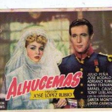 Cine: ALHUCEMAS. SENCILLO DE FILMÓFONO.. Lote 16158739